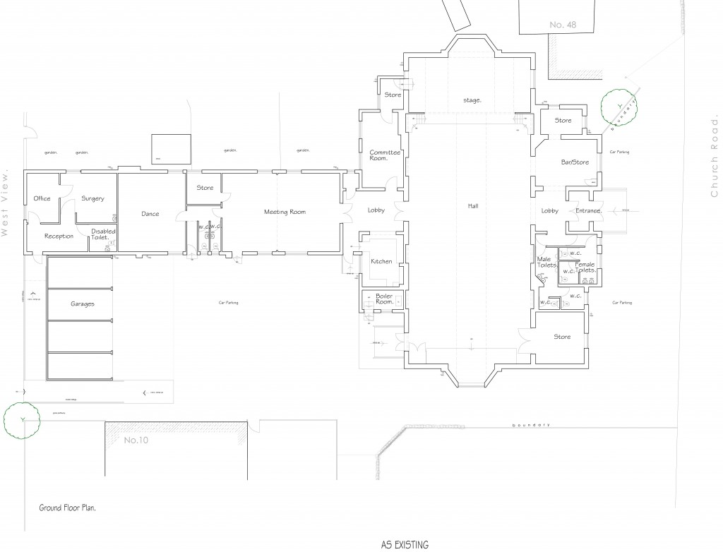 C:UsersRichardDesktopDrawingsCommericalNorth Ferriby Village Hall,North FerribyPLANNING SUBMISSION FILE A1-Plan as exist